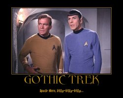 Gothic Trek --- Spock: Here, kitty-kitty-kitty...