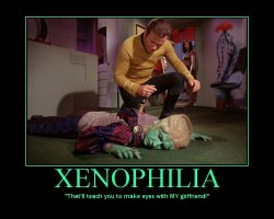 Xenophilia --- That'll teach you to make eyes with MY girlfriend!