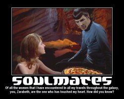 Soulmates --- Of all the women that I have encountered in all my travels throughout the galaxy, you, Zarabeth, are the one who has touched my heart. How did you know?
