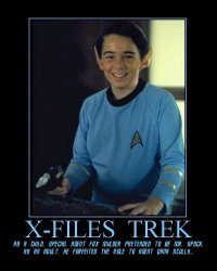 X-Files Trek --- As a child, Special Agent Fox Mulder pretended to be Mr. Spock. As an adult, he forfeited the role to Agent Dana Scully...